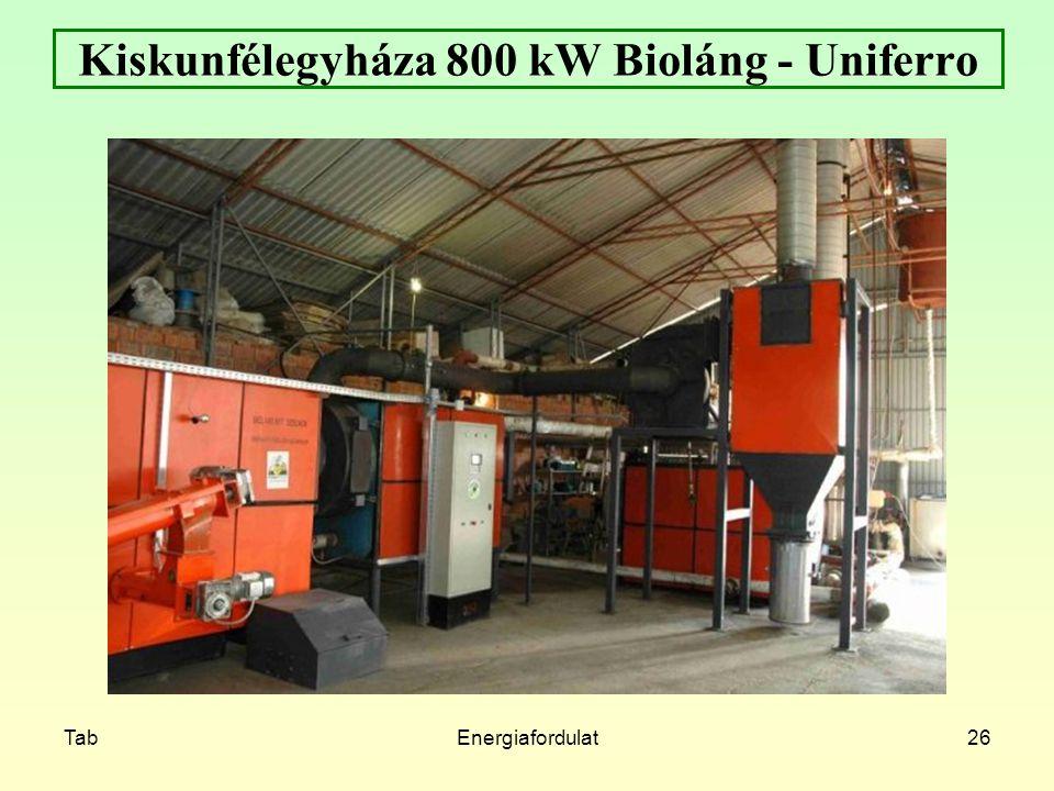 TabEnergiafordulat26 Kiskunfélegyháza 800 kW Bioláng - Uniferro