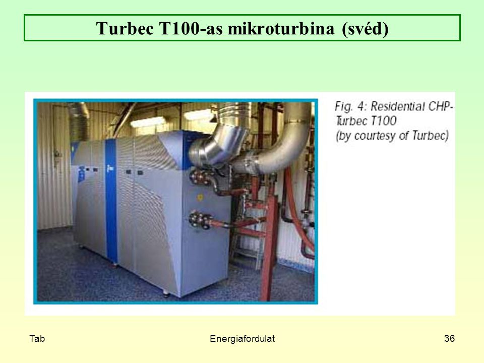 TabEnergiafordulat36 Turbec T100-as mikroturbina (svéd)