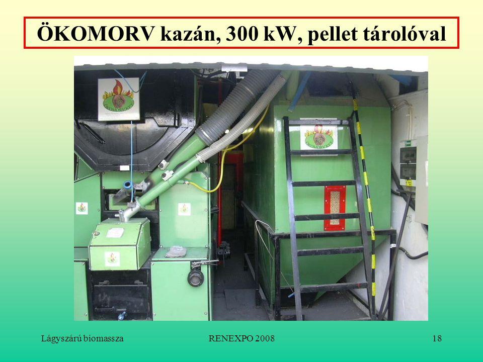 Lágyszárú biomasszaRENEXPO 200818 ÖKOMORV kazán, 300 kW, pellet tárolóval