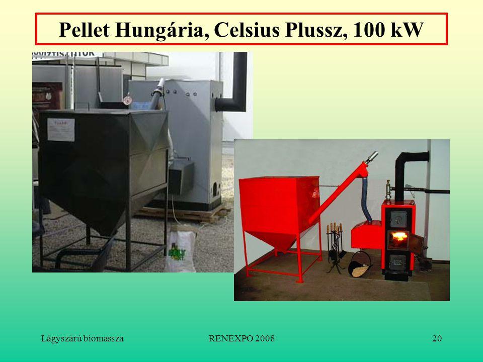 Lágyszárú biomasszaRENEXPO 200820 Pellet Hungária, Celsius Plussz, 100 kW