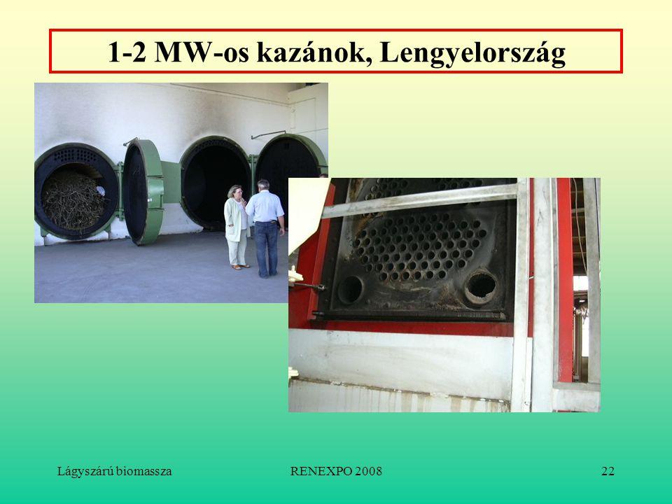 Lágyszárú biomasszaRENEXPO 200822 1-2 MW-os kazánok, Lengyelország