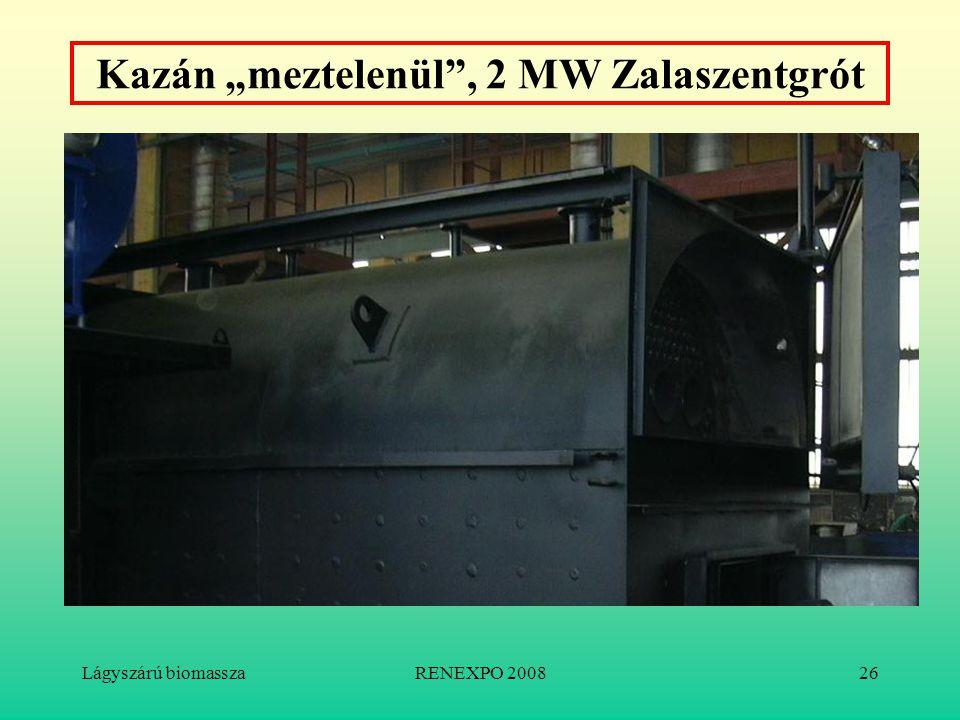 """Lágyszárú biomasszaRENEXPO 200826 Kazán """"meztelenül"""", 2 MW Zalaszentgrót"""