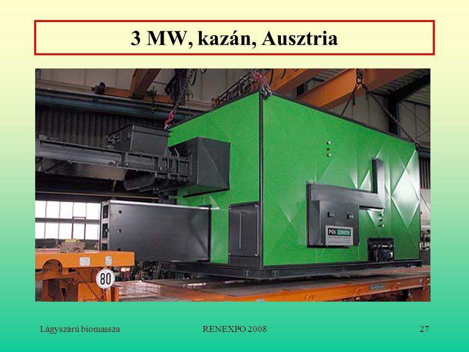 Lágyszárú biomasszaRENEXPO 200827 3 MW, kazán, Ausztria