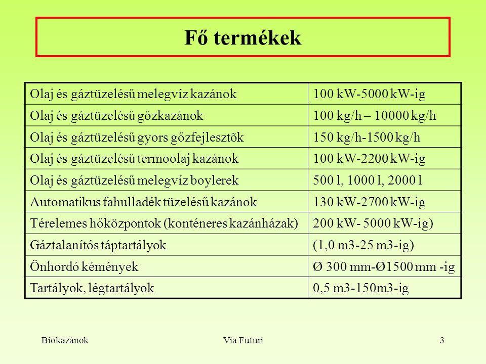 BiokazánokVia Futuri14 BayerCenter Kft. Pécs, 800 kW Uniferro-Bioláng