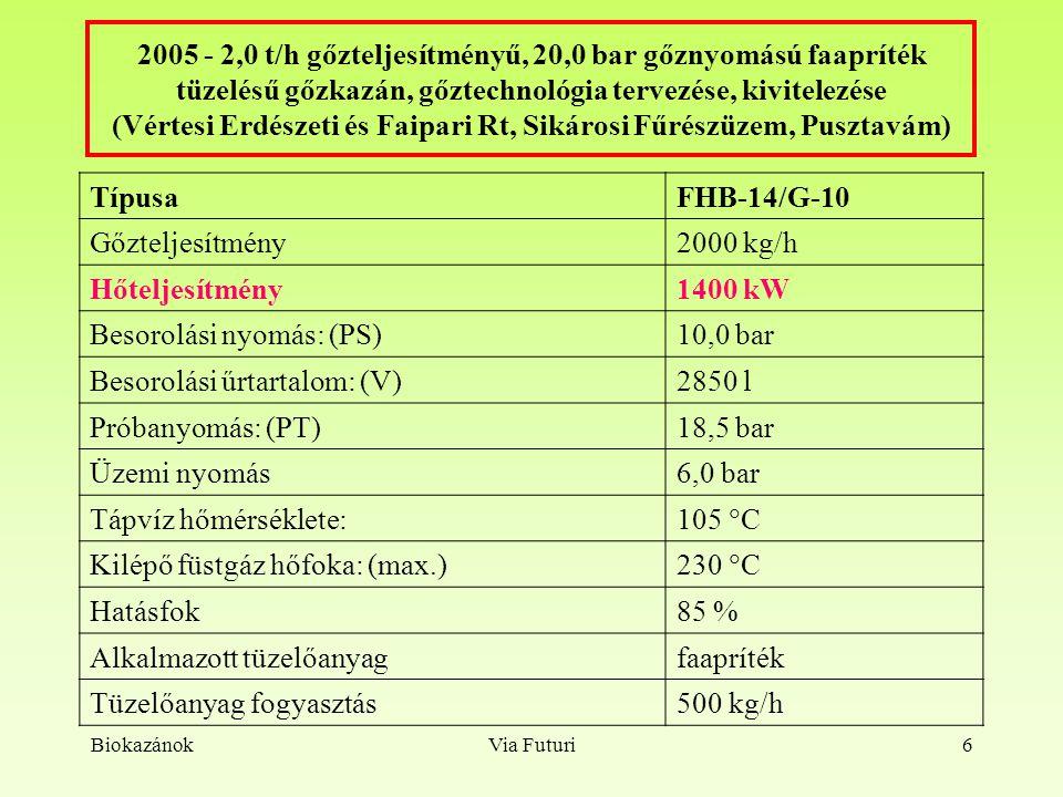BiokazánokVia Futuri17 Kazánház, kémény, üzem