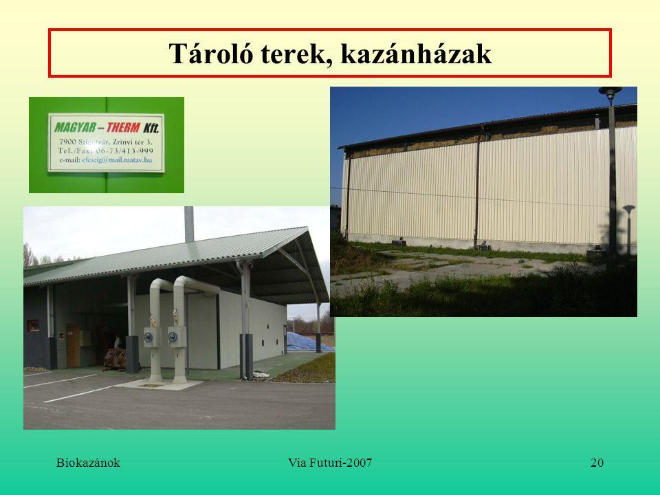 BiokazánokVia Futuri-200720 Tároló terek, kazánházak