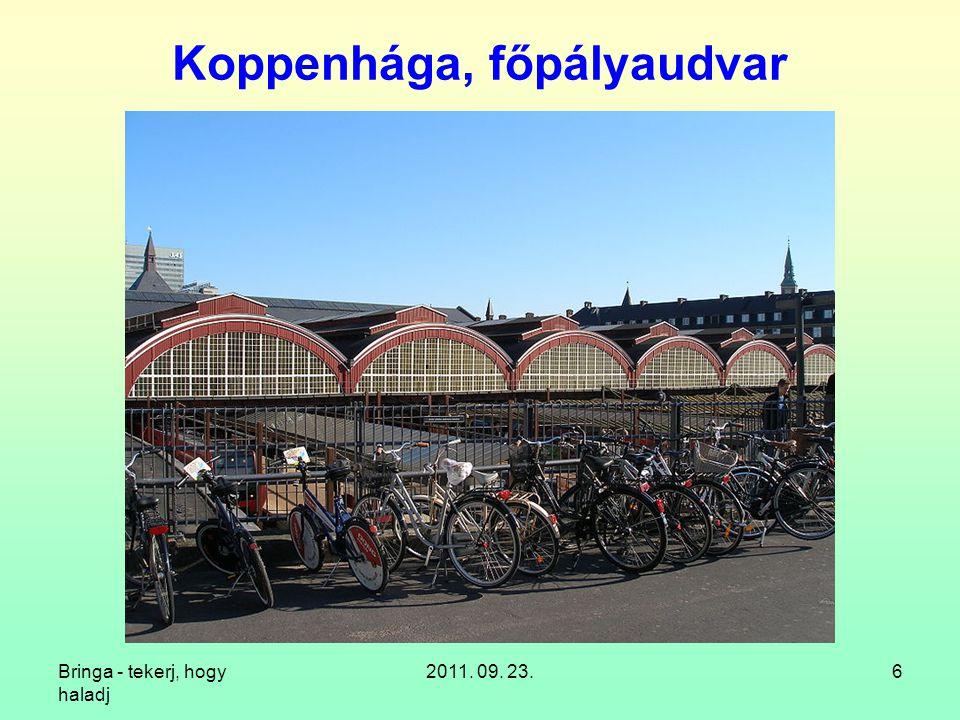 """Bringa - tekerj, hogy haladj 2011. 09. 23.27 """"Kerékpártároló , PTE TTK"""