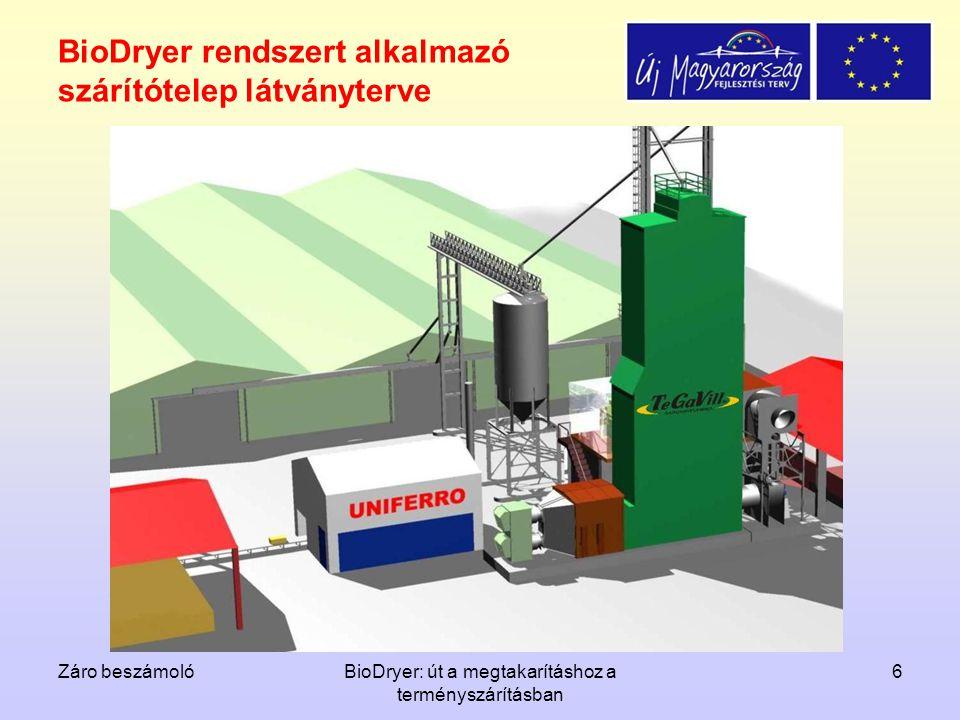 Záro beszámolóBioDryer: út a megtakarításhoz a terményszárításban 6 BioDryer rendszert alkalmazó szárítótelep látványterve