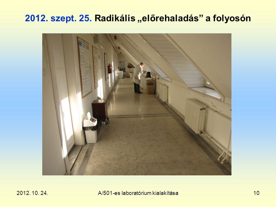 2012. 10. 24.A/501-es laboratórium kialakítása10 2012.