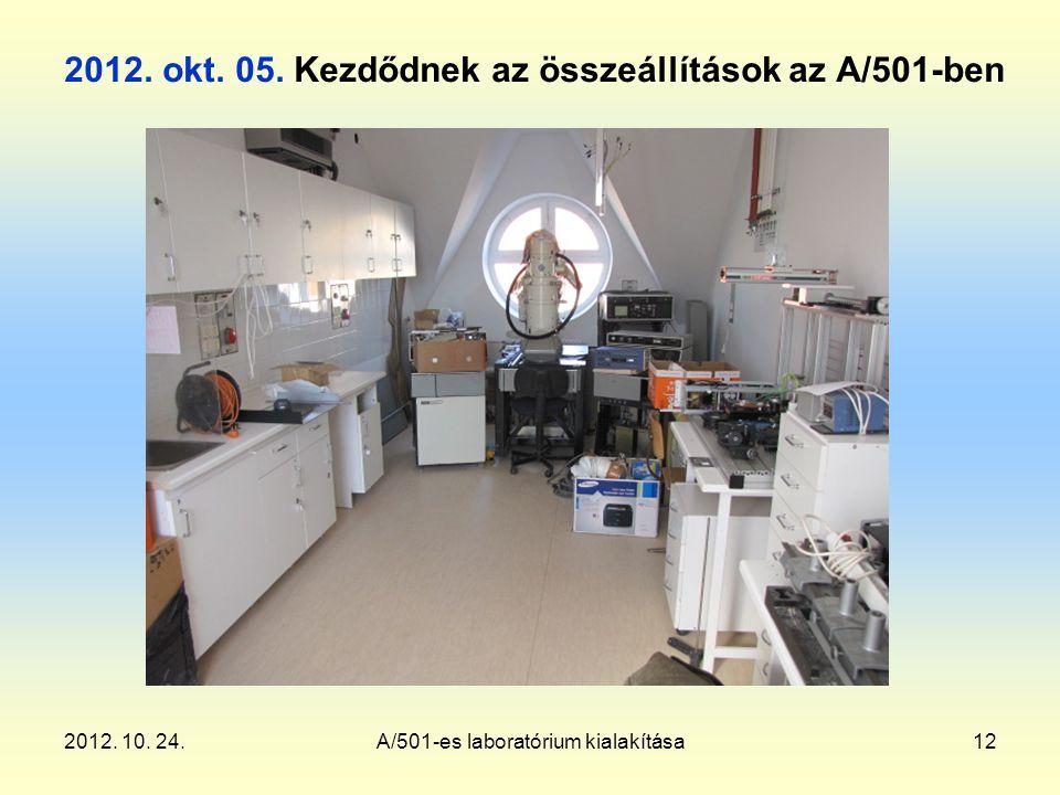 2012. 10. 24.A/501-es laboratórium kialakítása12 2012.