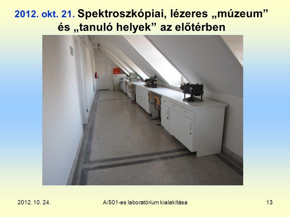 2012. 10. 24.A/501-es laboratórium kialakítása13 2012.