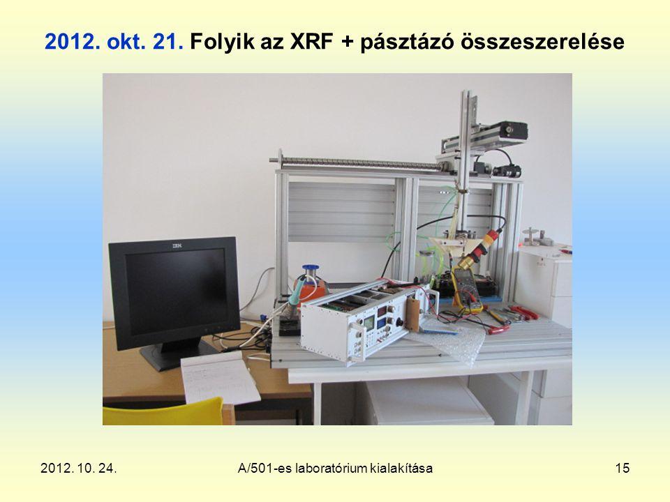2012. 10. 24.A/501-es laboratórium kialakítása15 2012.