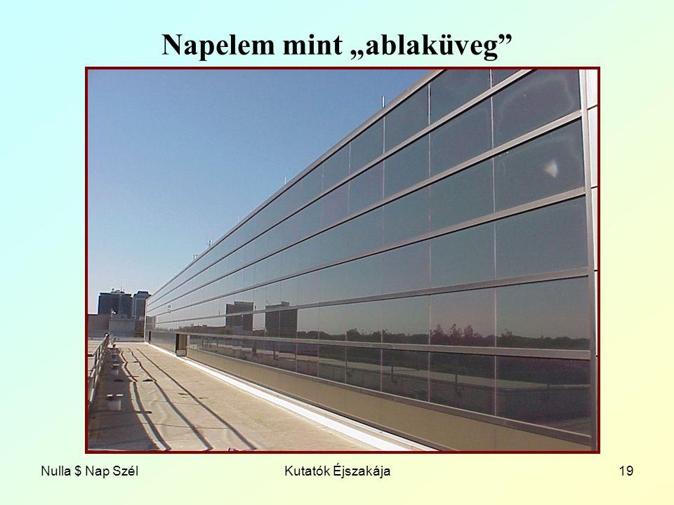 """Nulla $ Nap SzélKutatók Éjszakája19 Napelem mint """"ablaküveg"""