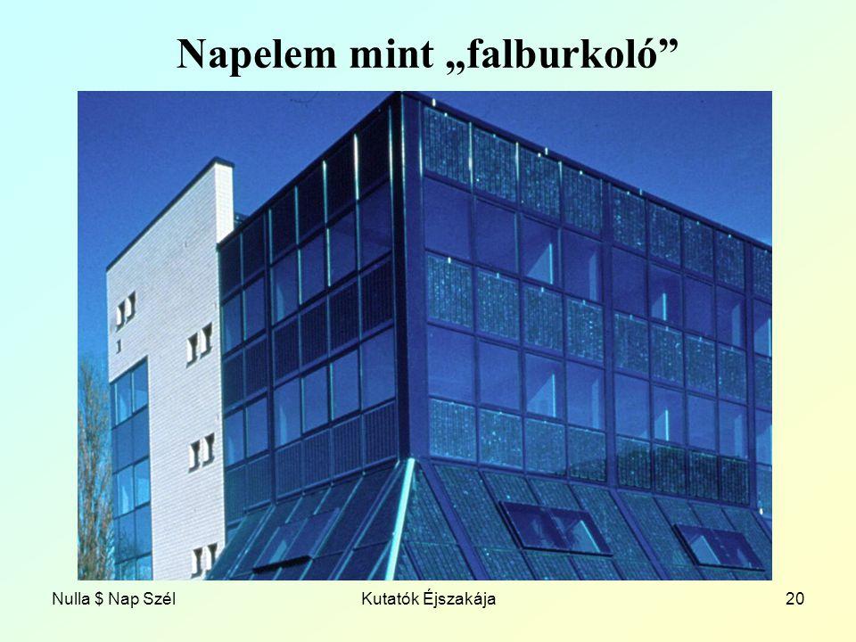 """Nulla $ Nap SzélKutatók Éjszakája20 Napelem mint """"falburkoló"""