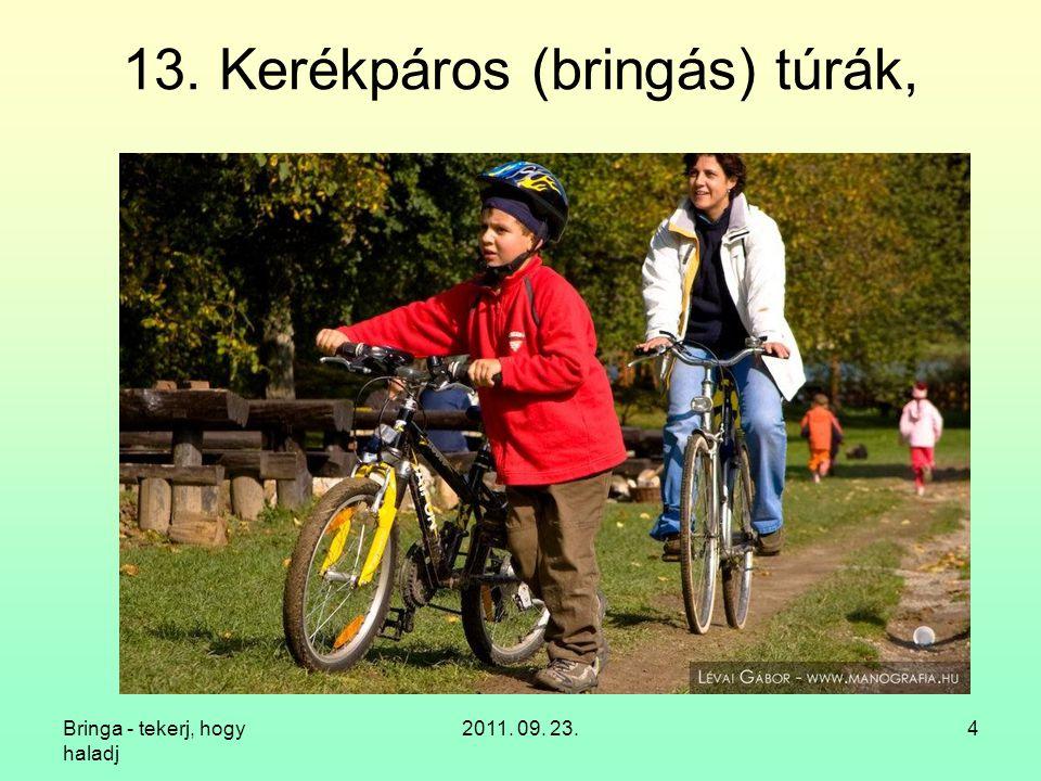 Bringa - tekerj, hogy haladj 2011. 09. 23.15 14. Kerékpáros egyesületek - Pécs