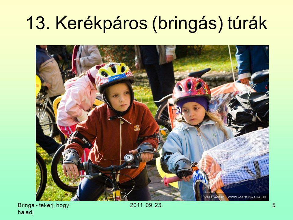 Bringa - tekerj, hogy haladj 2011. 09. 23.16 14. Kerékpáros egyesületek -világban