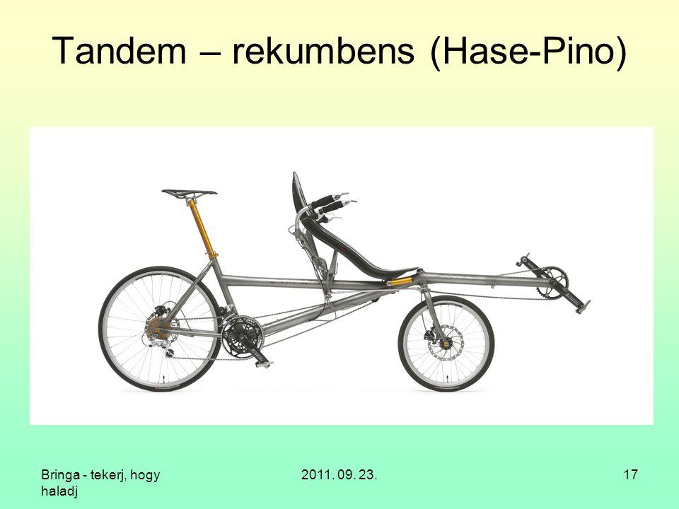 Bringa - tekerj, hogy haladj 2011. 09. 23.17 Tandem – rekumbens (Hase-Pino)