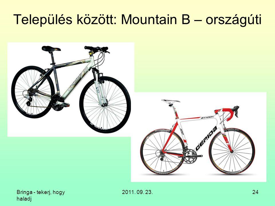 Bringa - tekerj, hogy haladj 2011. 09. 23.24 Település között: Mountain B – országúti