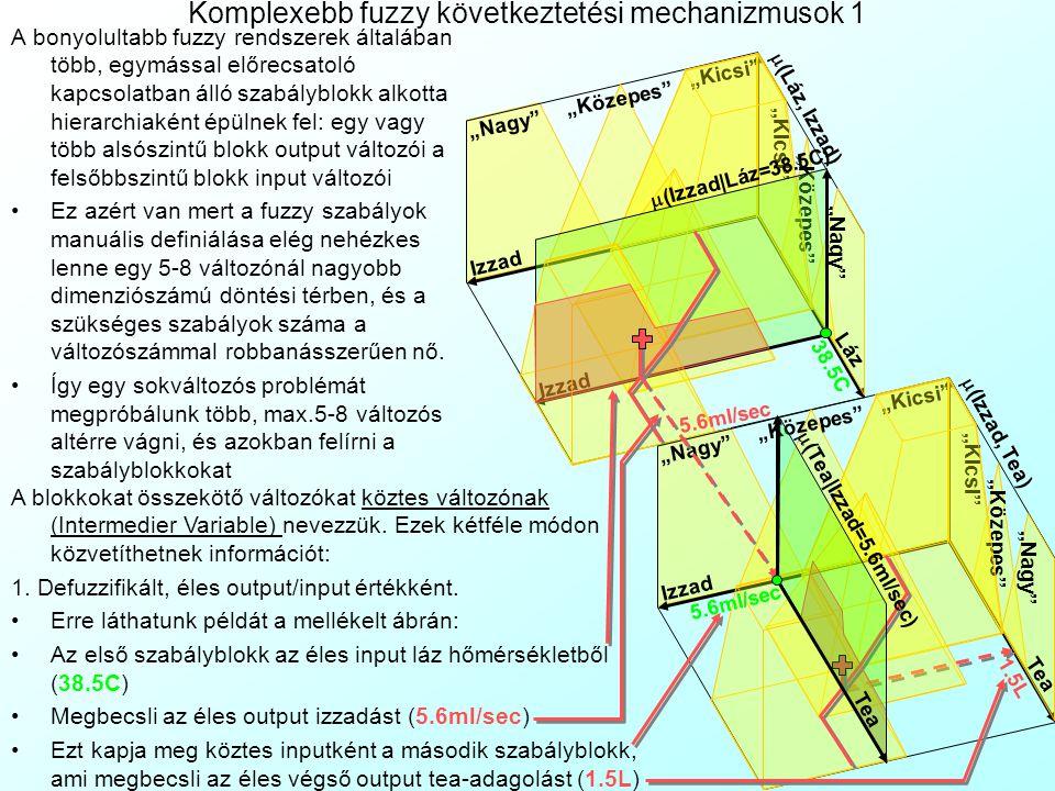 A gyakorlat tartalma 27. Házi Feladat: Hitelbírálati rendszer CART-al A vezérlési függvény modellezése –Fuzzy nyelvi módosítók használata –Fuzzy szabá