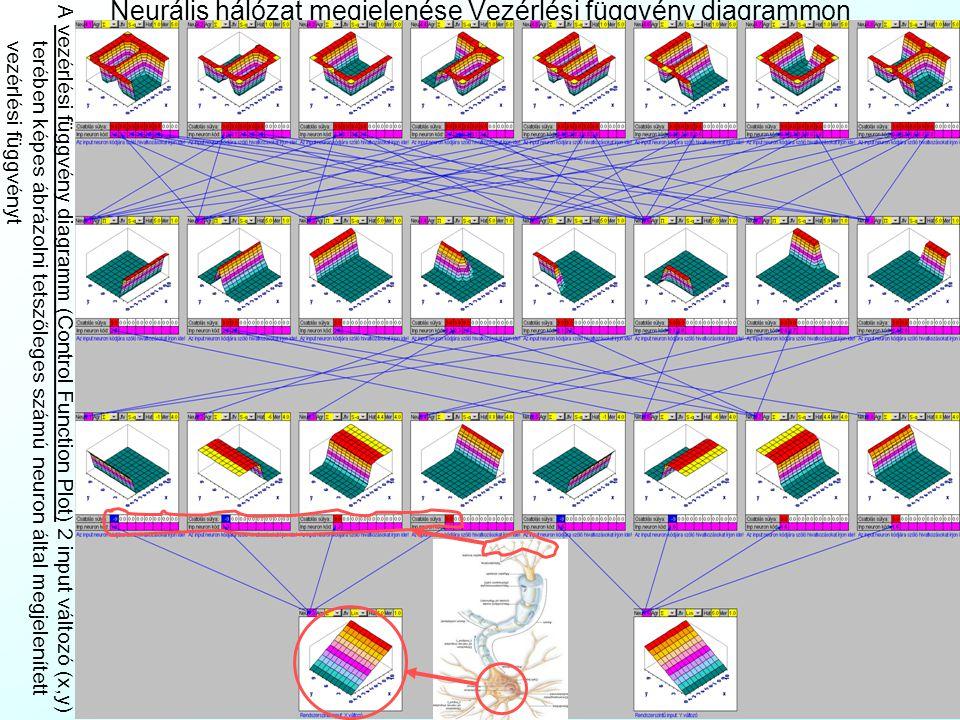 Neurális hálózat megjelenése Mátrixos formában A mátrixos forma (Matrix Form) a neurális hálózat legtömörebb ábrázolása, korlátlan számú I/O neuront t