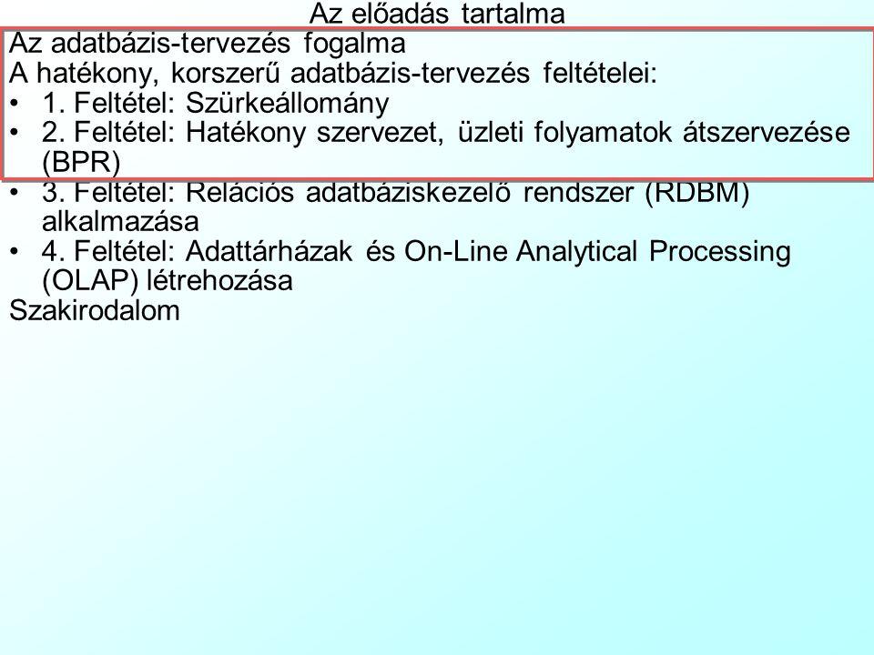 Adatbázis-tervezés konzultáció 1.Előadás Dr. Pauler Gábor, egyetemi docens, ev.
