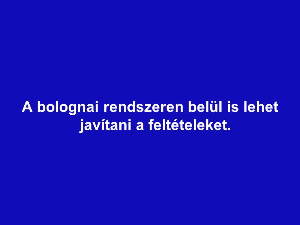 A bolognai rendszeren belül is lehet javítani a feltételeket.