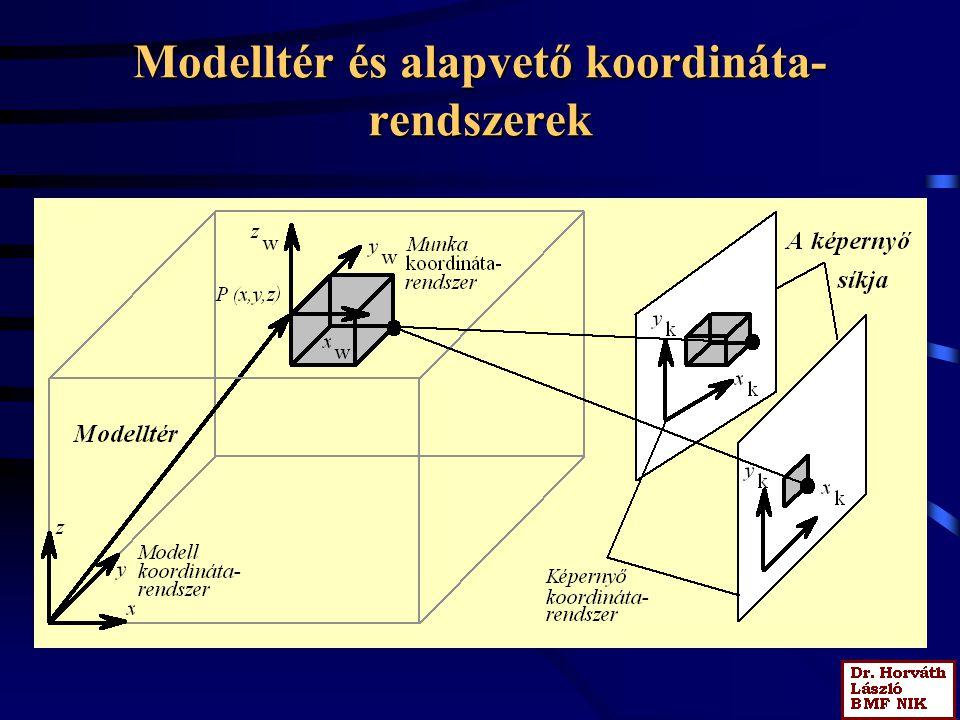 Modelltér és alapvető koordináta- rendszerek