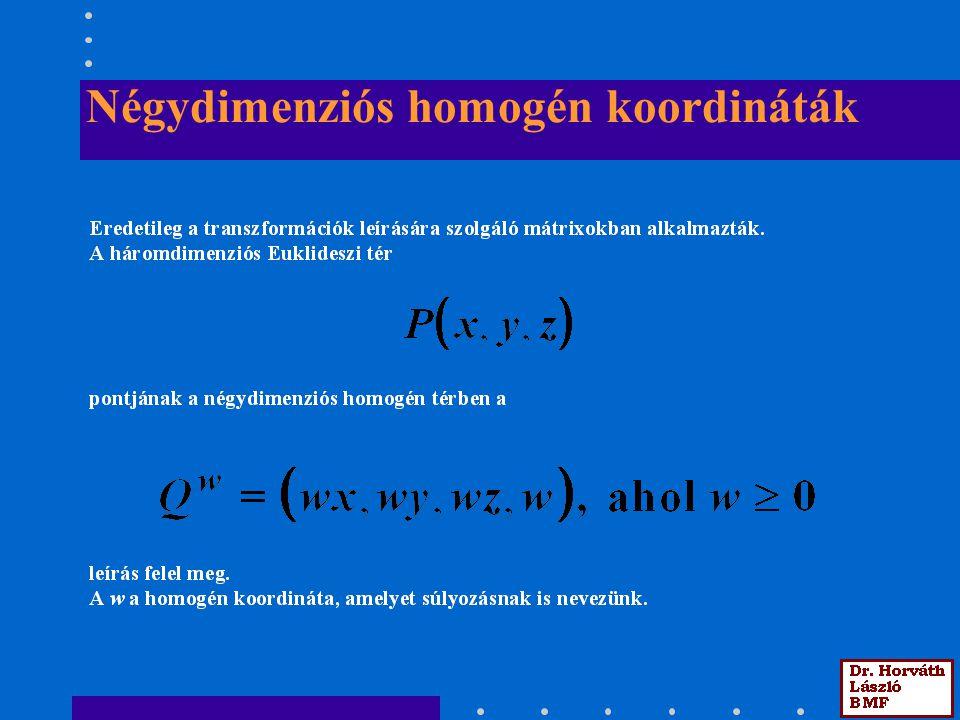 Négydimenziós homogén koordináták