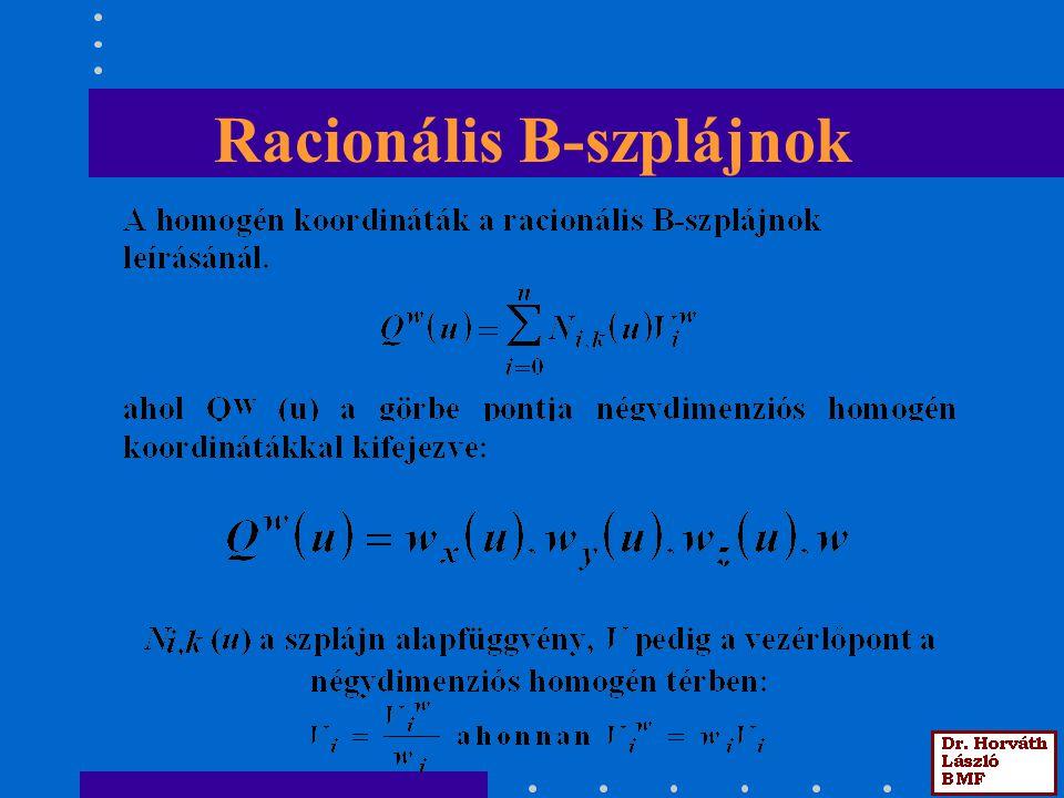 Racionális B-szplájnok