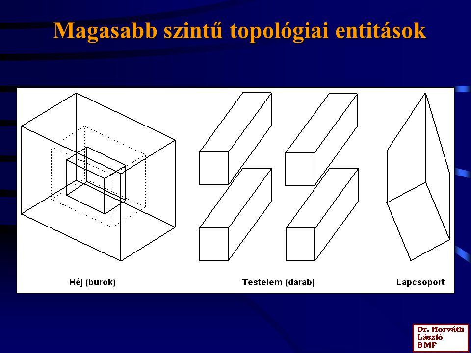 Magasabb szintű topológiai entitások