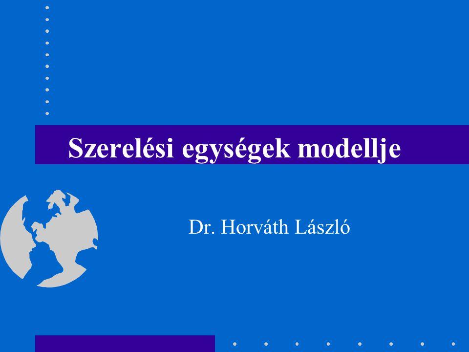 Szerelési egységek modellje Dr. Horváth László