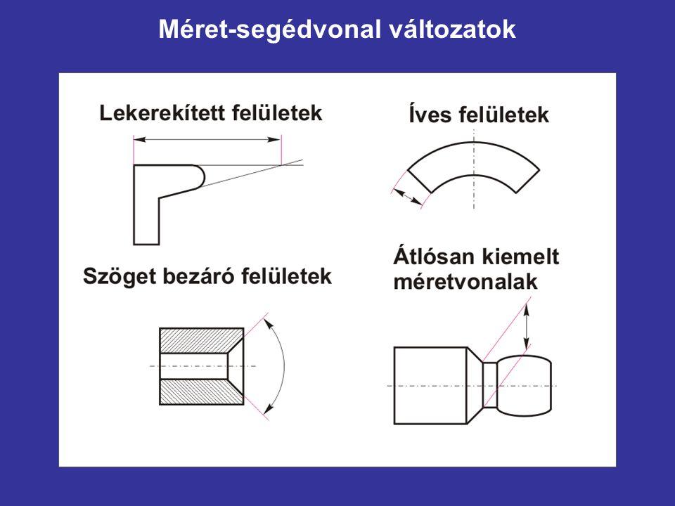 Méret-segédvonal változatok