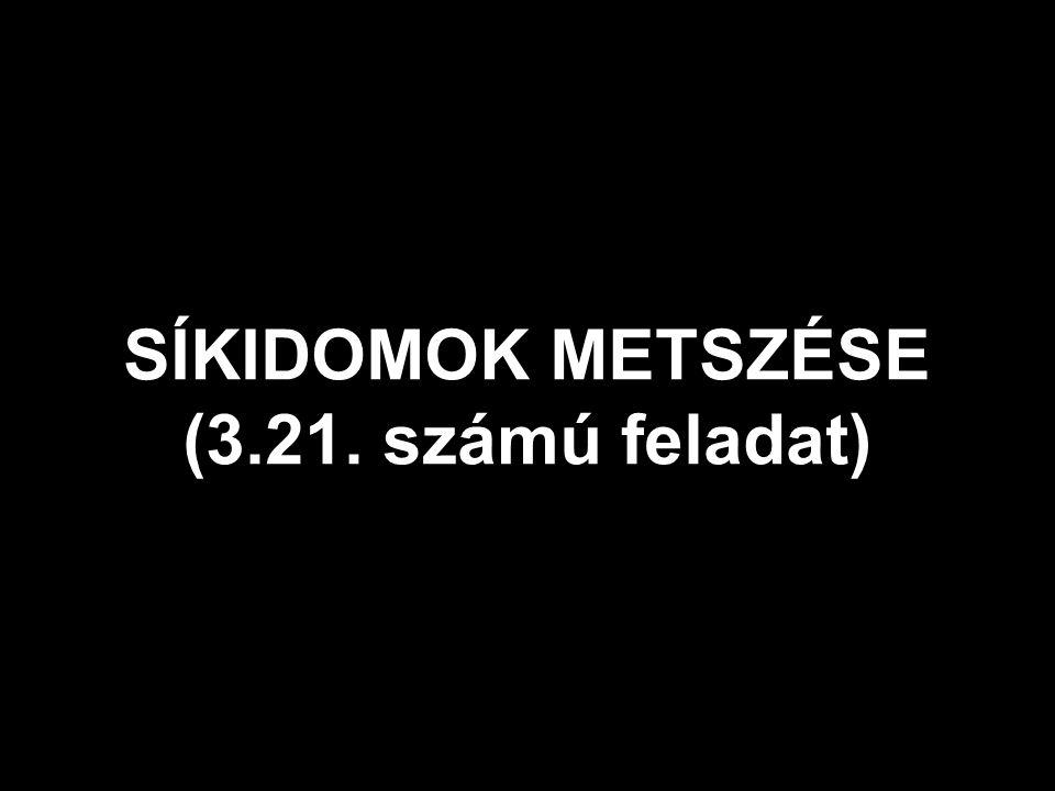 SÍKIDOMOK METSZÉSE (3.21. számú feladat)
