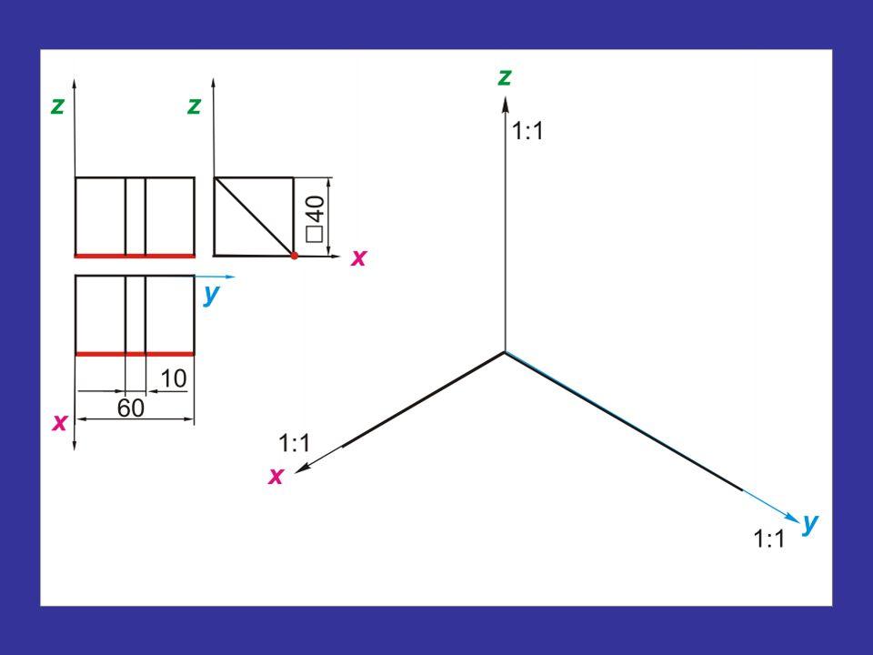 A metszéspont (M 1 ') első képének szerkesztése