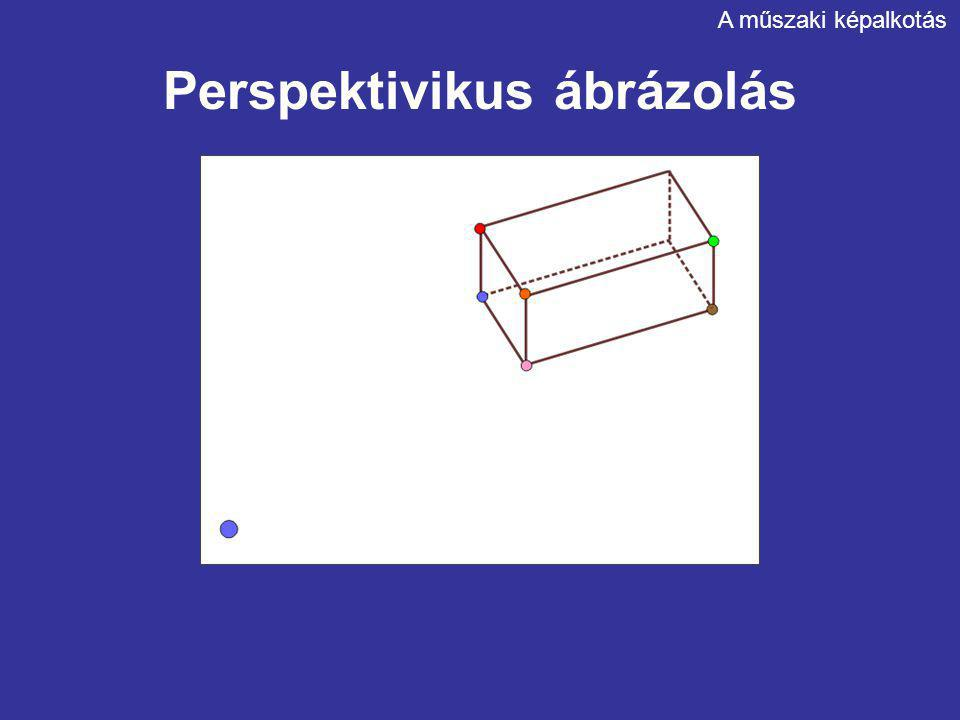 Perspektivikus ábrázolás A műszaki képalkotás