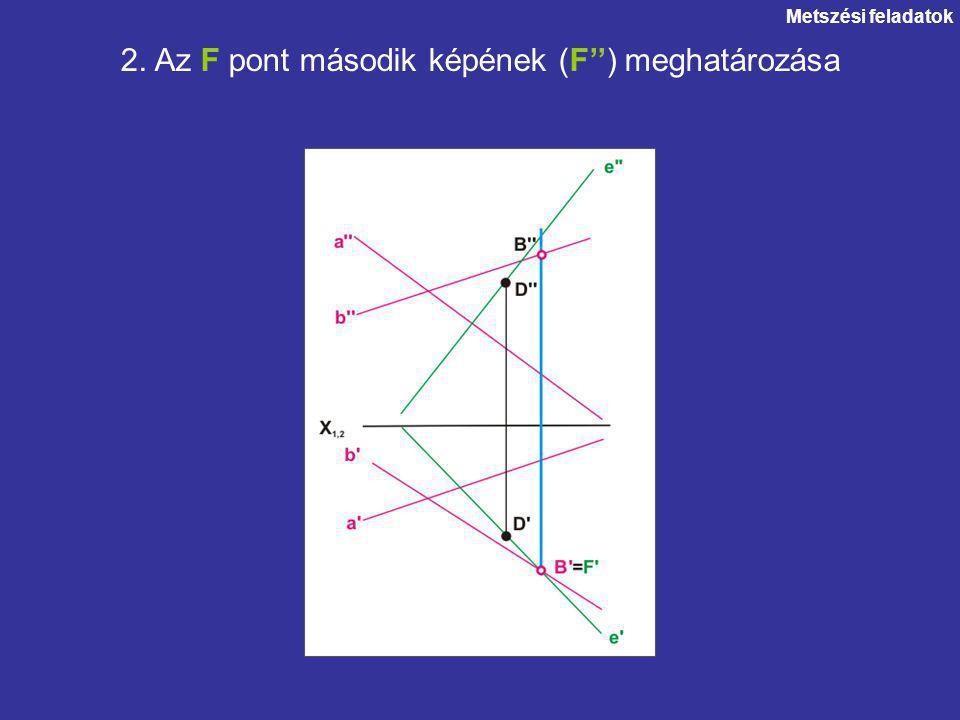 Metszési feladatok 2. Az F pont második képének (F'') meghatározása