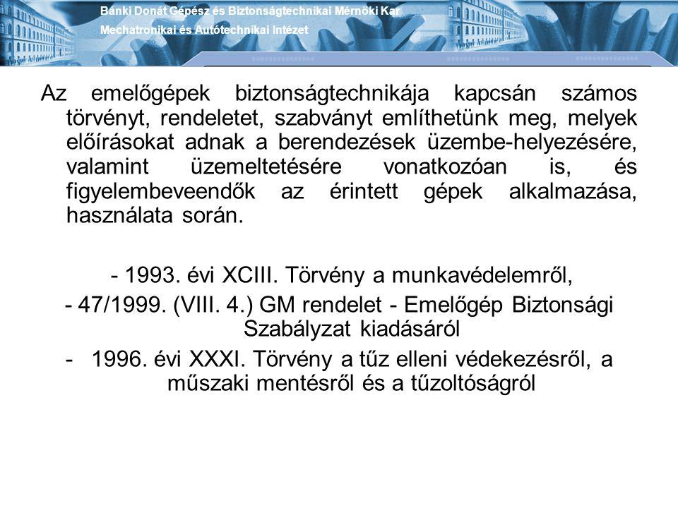 A kapcsolódó munkavédelmi oktatásnak a 47/1999.(VIII.