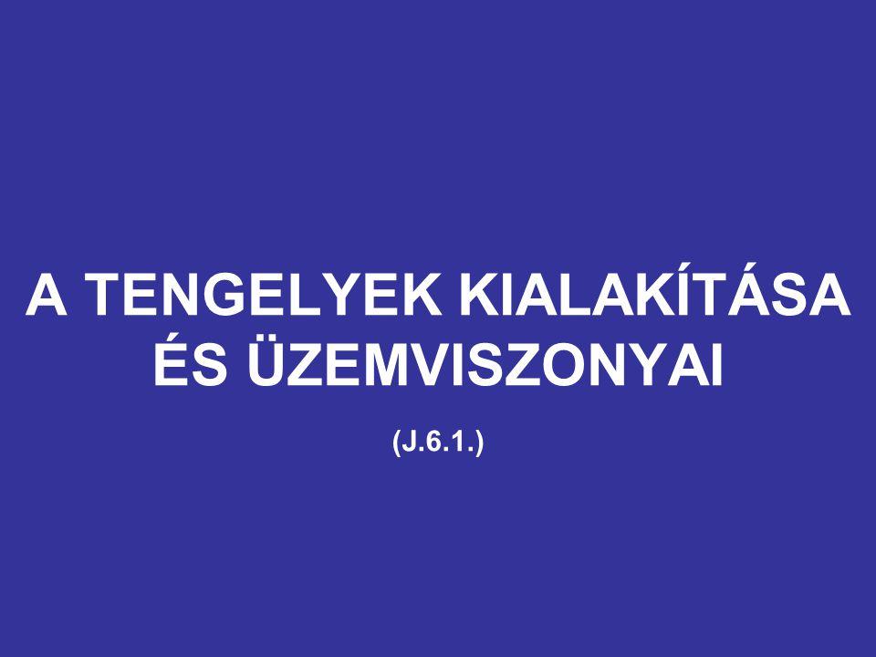 A TENGELYEK KIALAKÍTÁSA ÉS ÜZEMVISZONYAI (J.6.1.)