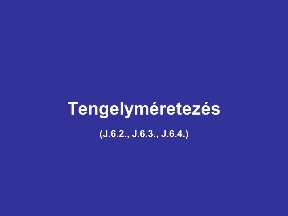 Tengelyméretezés (J.6.2., J.6.3., J.6.4.)