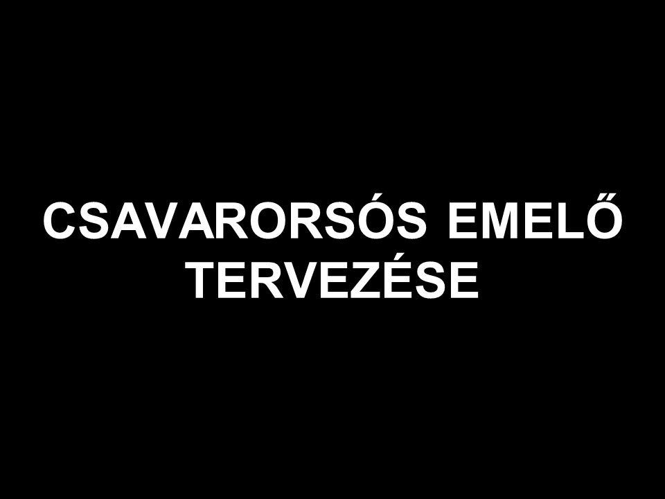 CSAVARORSÓS EMELŐ TERVEZÉSE