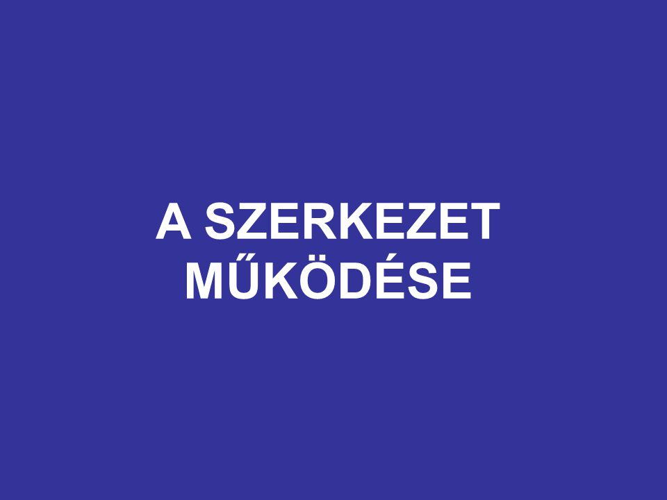 A SZERKEZET MŰKÖDÉSE