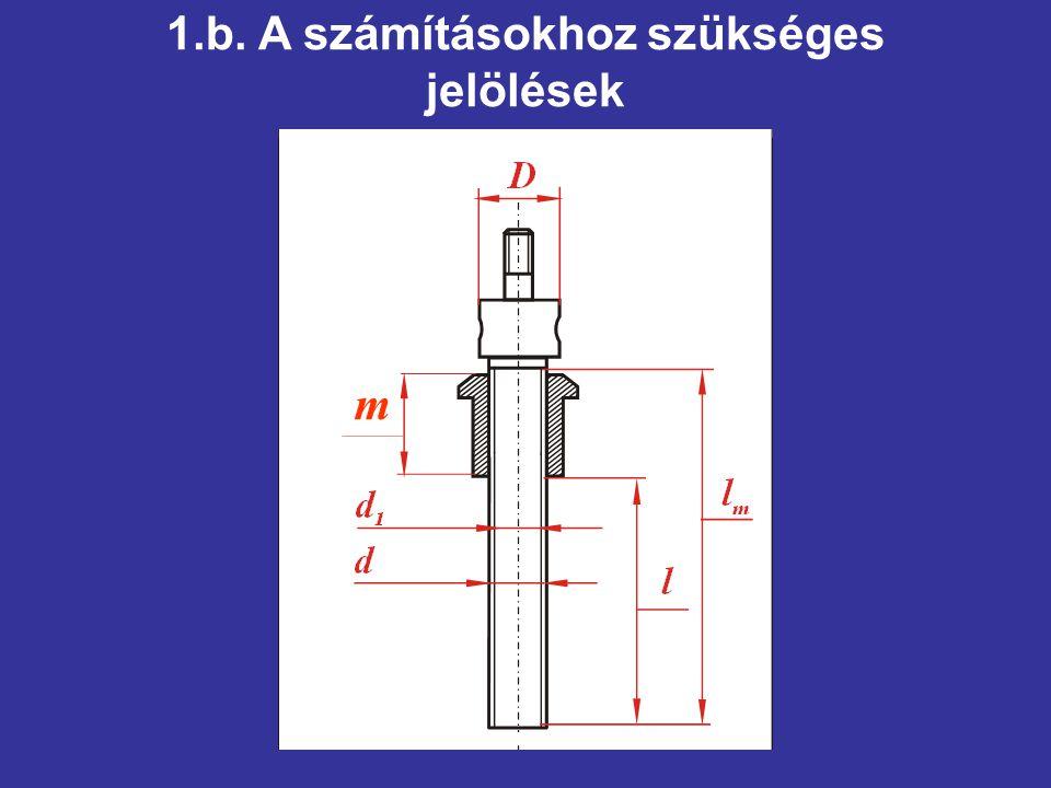 1.b. A számításokhoz szükséges jelölések m