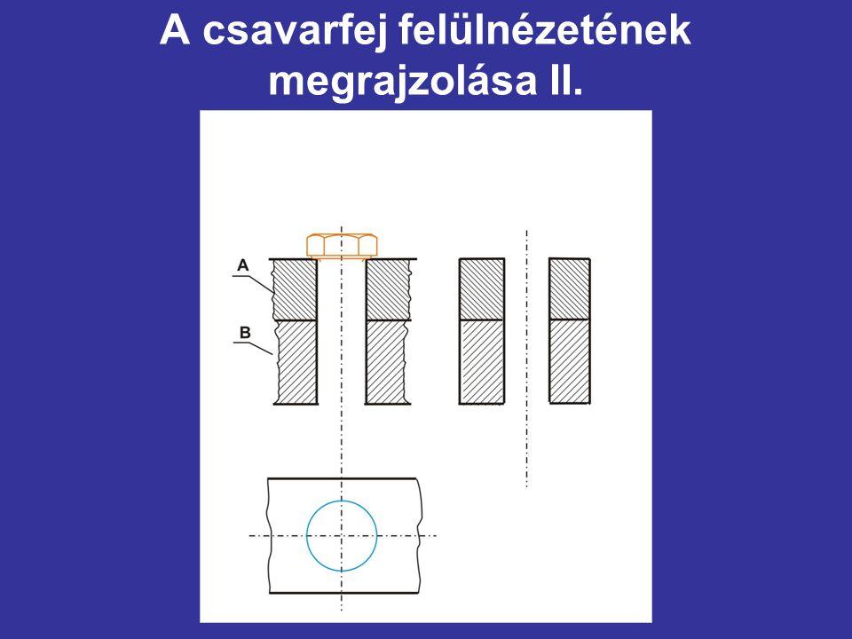 A csavarfej felülnézetének megrajzolása II.