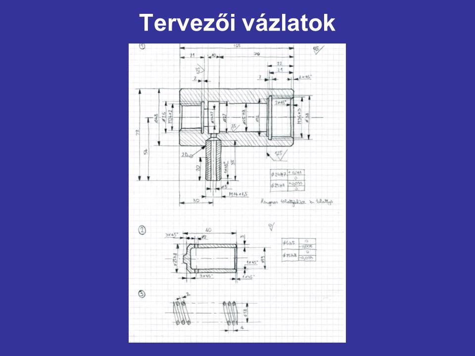 Tervezői vázlatok