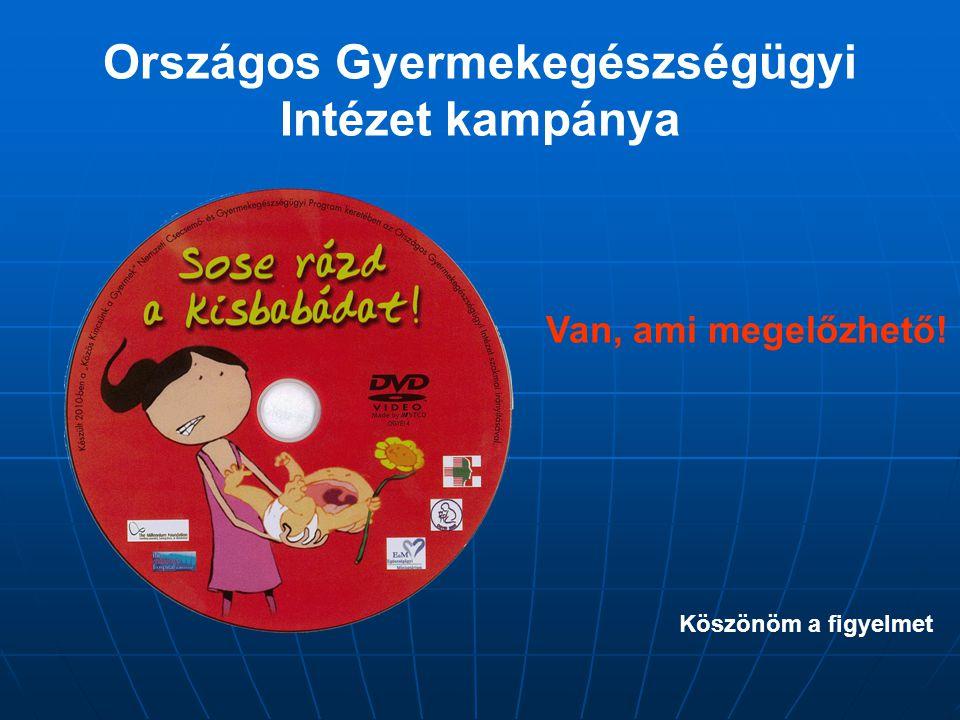 Országos Gyermekegészségügyi Intézet kampánya Köszönöm a figyelmet Van, ami megelőzhető!
