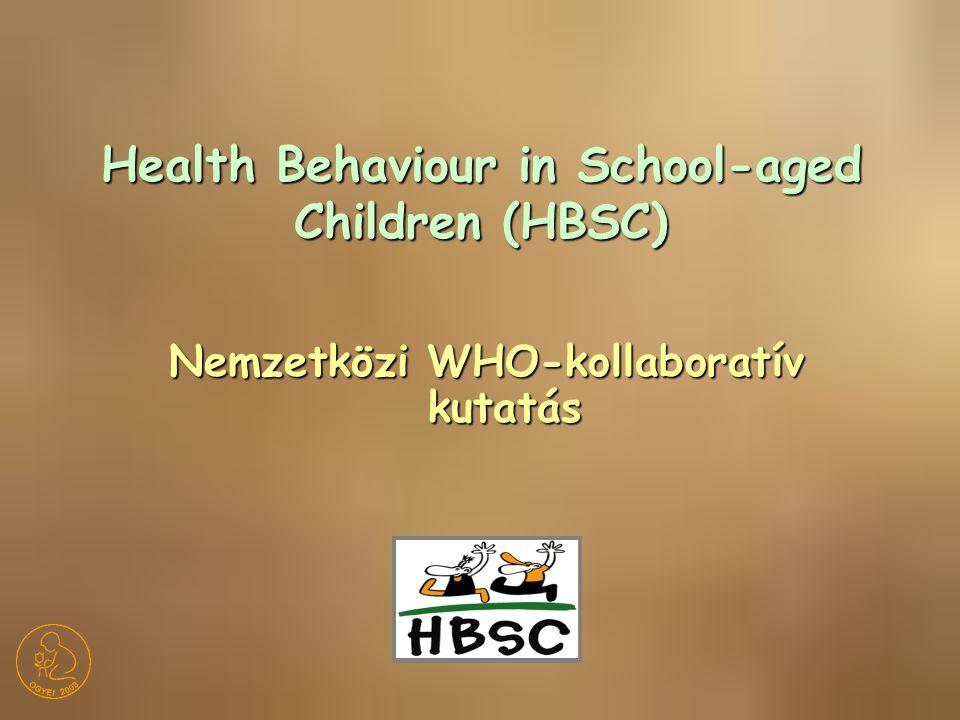 Nemzetközi WHO-kollaboratív kutatás Health Behaviour in School-aged Children (HBSC)