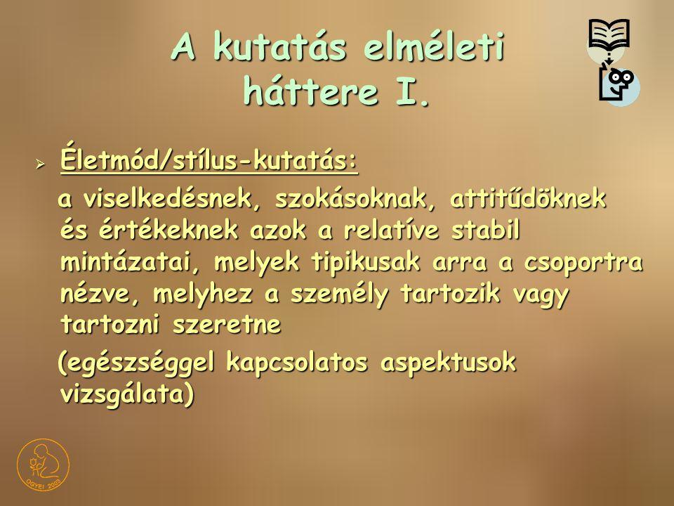 Háttértényezők II.