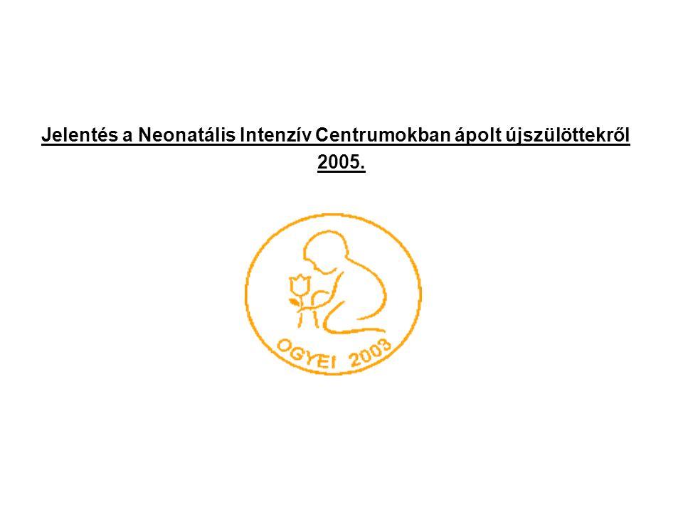 Jelentés a Neonatális Intenzív Centrumokban ápolt újszülöttekről 2005.