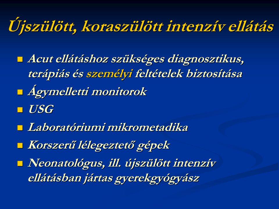 Kivizsgálás feltételeinek megteremtése Neonatális Intenzív Centrumban Ultrahang nyomonkövetés MR, CT, EEG, szakkonzíliárusok Minimumfeltételek előírása Országos centrumok Speciális neurológiai AnyagcsereGenetikai