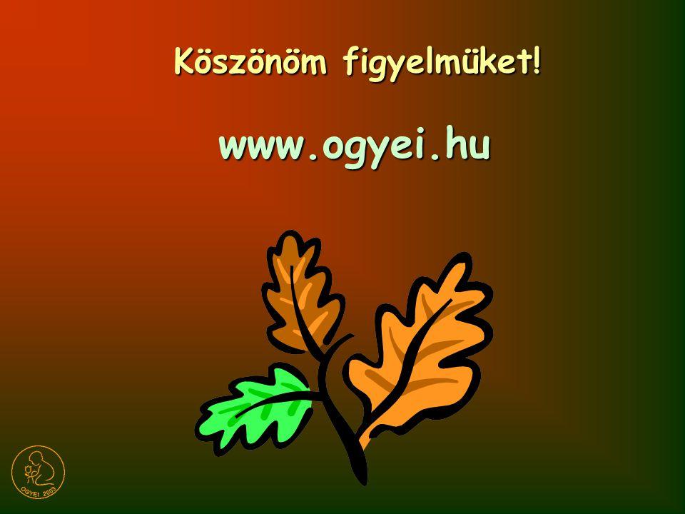 Köszönöm figyelmüket! www.ogyei.hu www.ogyei.hu